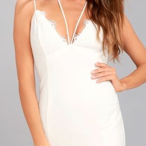 NWT LULU's WHITE LACE HOMECOMING RUSH DRESS S
